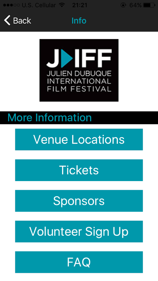 Julien Dubuque Film Festival- screenshot
