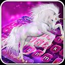Purple Starry Unicorn Keyboard APK