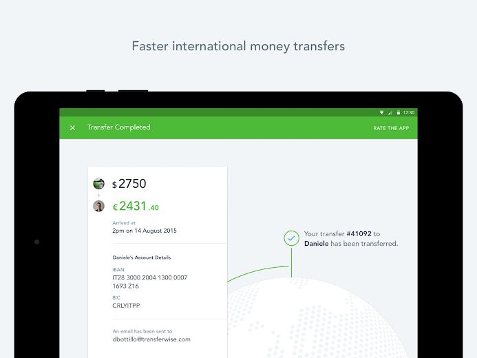 Screenshot 7 for TransferWise's Android app'