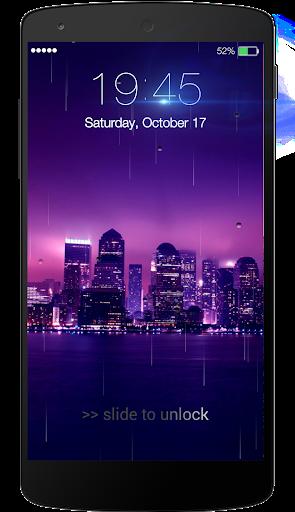 Rainy Lock Screen