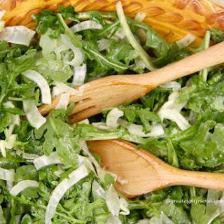 Arugula Fennel Salad with Lemon Vinaigrette