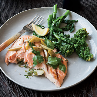 Grilled Salmon with Preserved Lemon and Green Olives Recipe