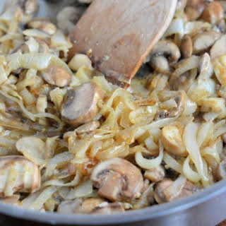 Sauteed Garlic Mushrooms and Onions.