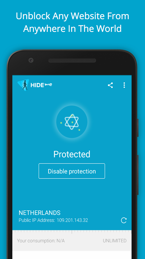hide.me VPN: captura de pantalla
