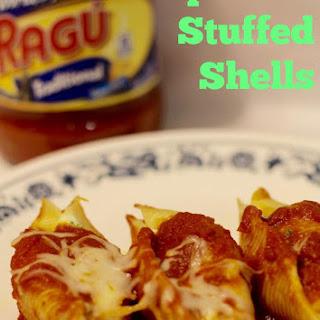 Spinach Stuffed Shells With Ragu Pasta Sauce