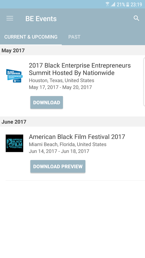 Black Enterprise Events- screenshot