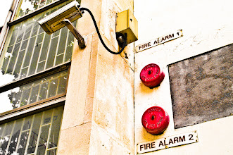 Photo: 2 Fire Alarms & a CCTV: that's human evolution at its best