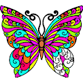Butterfly Paint by Number Book - Animals Coloring APK