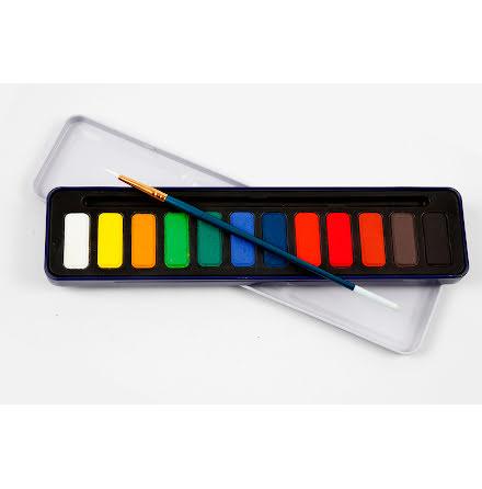 Akvarellfärg 12färger/fp