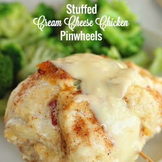 Stuffed Cream Cheese Chicken Pinwheels
