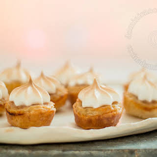 Puff Pastry Mini Tarts Filled with Pineapple and Coconut.