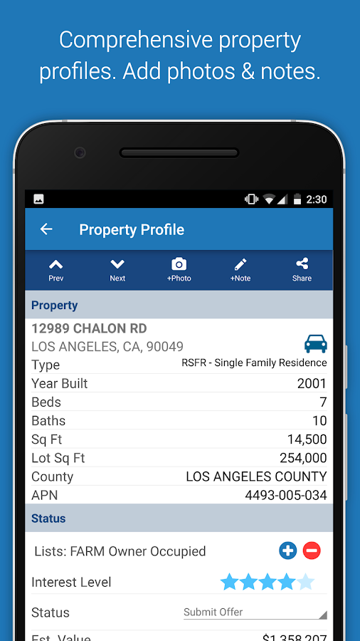 PropertyRadar- screenshot