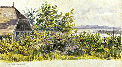 Photo: Corfe View, Parkstone, Dorset, where Wallace lived from June 1889 until December 1902. A watercolour painting by Annie Wallace. First published: Raby (2001). Scanned with permission from the original owned by the Wallace family. Copyright of scan: A. R. Wallace Memorial Fund.