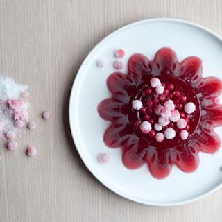 Raspberry & Redcurrant Jelly With Vanilla Ice Cream