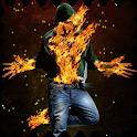 Stylish fiery guy Live WP icon