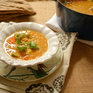 Red Lentil Coconut Curry Soup