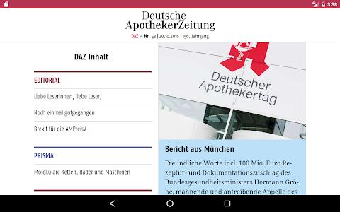 Deutsche Apotheker Zeitung screenshot 10