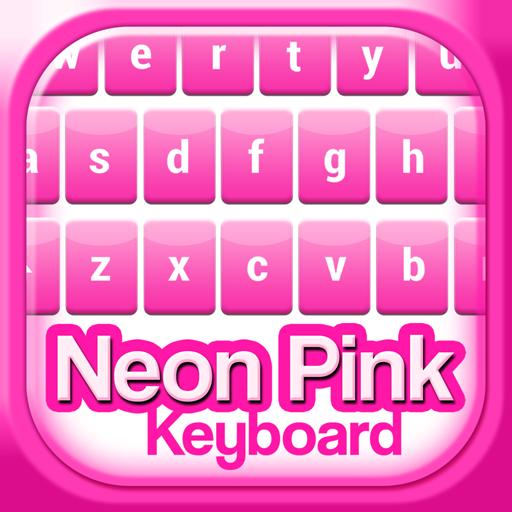 Neon Pink Keyboard Theme Icon