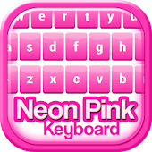 Neon Pink Keyboard Theme