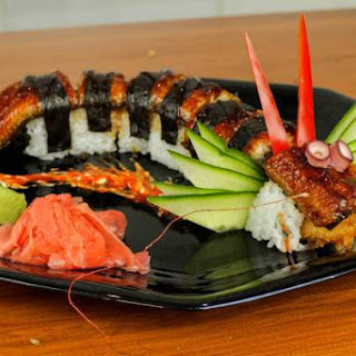 Dragon Sushi Roll.