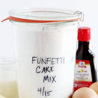 Homemade Funfetti Cake Mix.