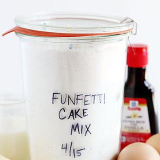 Homemade Funfetti Cake Mix.