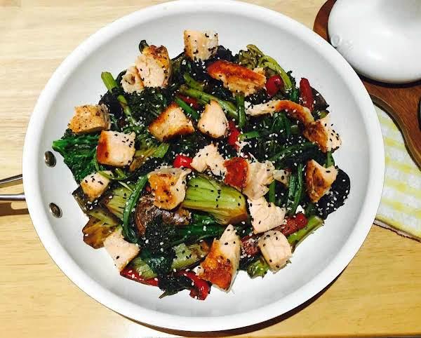 Tatsoi And Hoisin Salmon Stir-fry Recipe