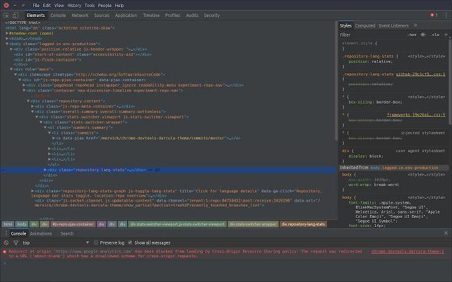 Darcula Theme for DevTools
