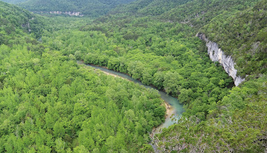 Photo: Buffalo River from top of Big Bluff
