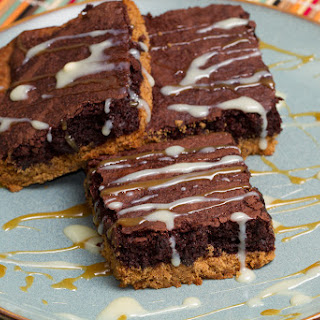 Cookie Butter Brownie Bars.