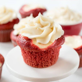 Red Velvet Cheesecake Cupcakes.