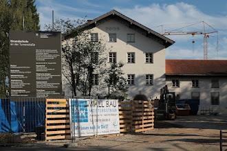 Photo: 25.08.: das Bauschild steht