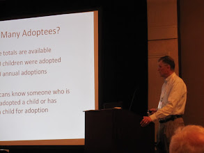 Photo: Richard Hill telling his story - An Adoptee's Journey to his Ancestral Surname