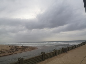 Dark clouds gathering over Durban on Tuesday morning.