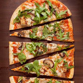 Arugula Mushroom Flatbread Pizza.