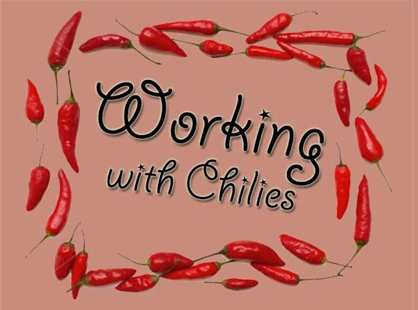 Working with chilies Many people are sensitive to chilies, and after cutting into them, develop...