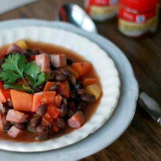Brazilian Sweet Potato and Black Bean Soup