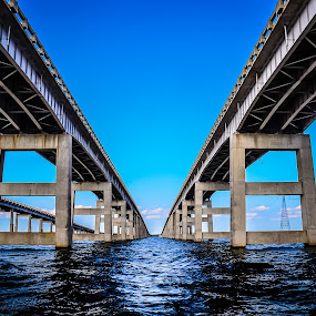 I-95 Bridge by Danny Robbins - Buildings & Architecture Bridges & Suspended Structures ( bridge water )