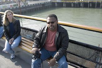 Photo: Kevin on the ferry to Alcatraz