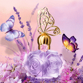 Perfume Rose Golden Butterfly