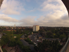 Photo: View of Stanford University from the Patio (Fisheye)