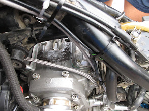 Photo: efekt końcowy - silnik jak nowy. :) ( ... mogliśmy sobie zaoszczędzić 6cio krotnego łaczenia łańcuszka rozrządu gdyby poprawnie była założona krzywka od autodekompresji na wałek rozrządu).