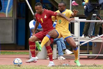 Photo: Jordan Ayew (9) and Jacques Tuyisenge (9) [Rwanda Vs Ghana AFCON2017 Qualifier, 5 Sep 2015 in Kigali, Rwanda.  Photo © Darren McKinstry 2015