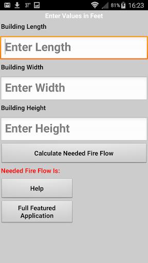 Needed fire Flow Calculator