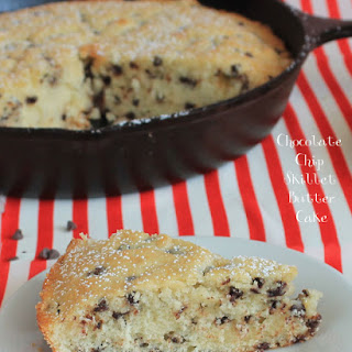 Chocolate Chip Skillet Butter Cake