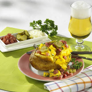 Potatoes with Ham and Scrambled Eggs.