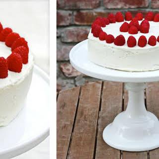 White Chocolate Raspberry Cake.