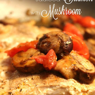 Sauteed Salmon with Mushroom