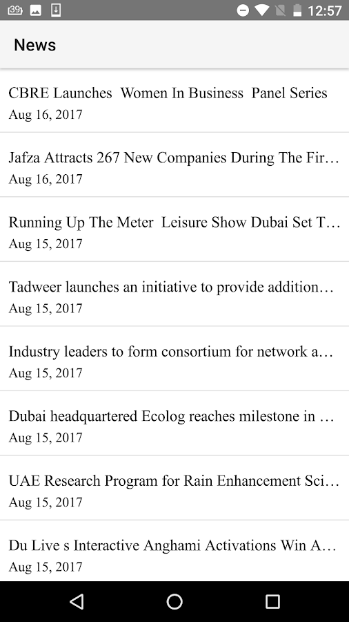 Middle East Events (MEE)- screenshot