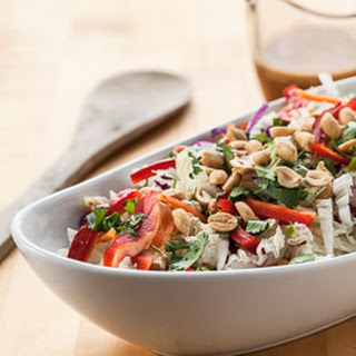 Thai Cabbage Salad with Spicy Peanut Butter Dressing